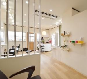 小平市の美容室の店舗内装工事