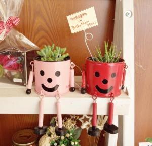 顔入り 植木鉢
